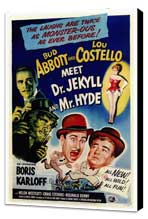 Abbott and Costello Meet Dr. Jekyll and Mr. Hyde - 27 x 40 Movie Poster - Style A - Museum Wrapped Canvas
