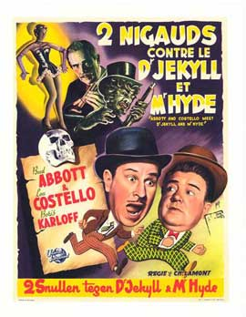 Abbott and Costello Meet Dr. Jekyll and Mr. Hyde - 11 x 17 Movie Poster - Belgian Style A