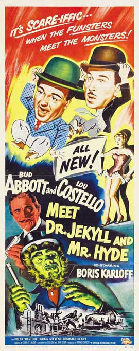 Abbott and Costello Meet Dr. Jekyll and Mr. Hyde - 14 x 36 Movie Poster - Insert Style A