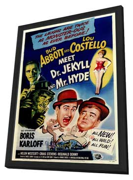 Abbott and Costello Meet Dr. Jekyll and Mr. Hyde - 11 x 17 Movie Poster - Style A - in Deluxe Wood Frame