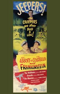 Abbott and Costello Meet Frankenstein - 11 x 17 Movie Poster - Style D