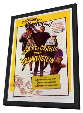 Abbott and Costello Meet Frankenstein - 11 x 17 Movie Poster - Style C - in Deluxe Wood Frame