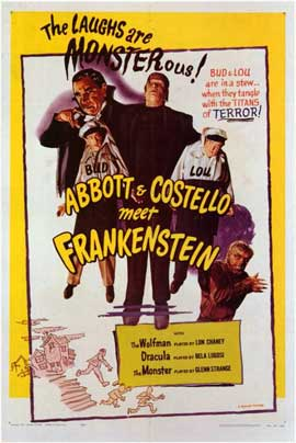 Abbott and Costello Meet Frankenstein - 27 x 40 Movie Poster - Style B