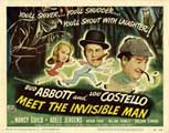 Abbott and Costello Meet the Invisible Man - 22 x 28 Movie Poster - Half Sheet Style A