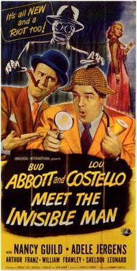 Abbott and Costello Meet the Invisible Man - 11 x 17 Movie Poster - Style B