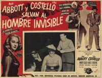 Abbott and Costello Meet the Invisible Man - 11 x 17 Movie Poster - Spanish Style A