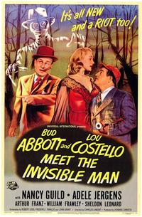 Abbott and Costello Meet the Invisible Man - 43 x 62 Movie Poster - Bus Shelter Style A
