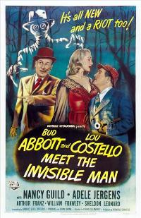 Abbott and Costello Meet the Invisible Man - 11 x 17 Movie Poster - Style C