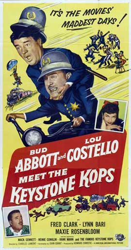 Abbott and Costello Meet the Keystone Kops - 20 x 40 Movie Poster - Style A
