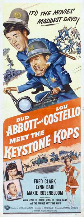 Abbott and Costello Meet the Keystone Kops - 14 x 36 Movie Poster - Insert Style A