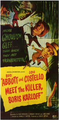 Abbott & Costello Meet the Killer, B.Karloff - 11 x 17 Movie Poster - Style B