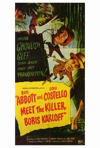 Abbott & Costello Meet the Killer, B.Karloff - 27 x 40 Movie Poster - Style B