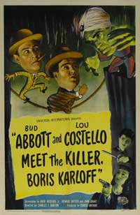 Abbott and Costello Meet the Killer, Boris Karloff - 27 x 40 Movie Poster - Style A