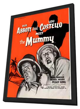 Abbott and Costello Meet the Mummy - 27 x 40 Movie Poster - Style C - in Deluxe Wood Frame