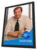 ABC News with Peter Jennings - 11 x 17 TV Poster - Style A - in Deluxe Wood Frame