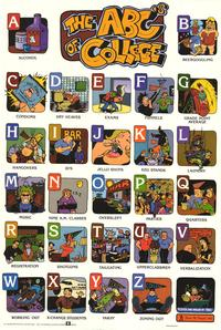 ABC's of College - Party/College Poster - 24 x 36 - Style B