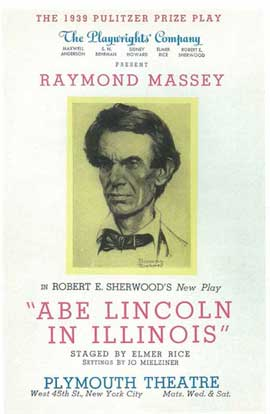 Abe Lincoln In Illinois (Broadway) - 14 x 22 Poster - Style A