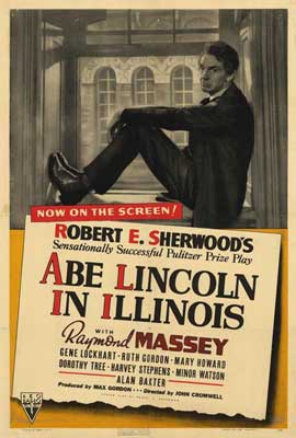 Abe Lincoln in Illinois - 27 x 40 Movie Poster - Style A