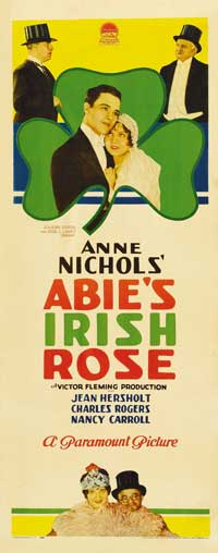 Abie's Irish Rose - 14 x 36 Movie Poster - Insert Style A