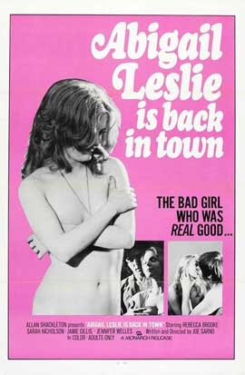 Abigail Leslie is back in town - 11 x 17 Movie Poster - Style A