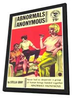 Abnormals Anonymous - 11 x 17 Retro Book Cover Poster - in Deluxe Wood Frame