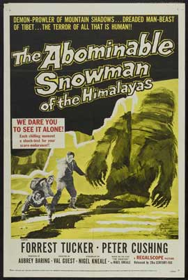 The Abominable Snowman - 11 x 17 Movie Poster - Style B