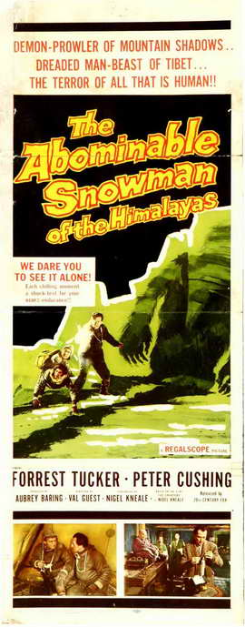 The Abominable Snowman - 14 x 36 Movie Poster - Insert Style A
