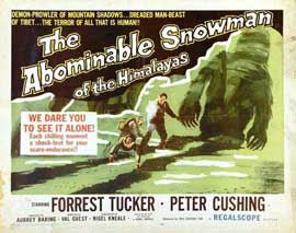 The Abominable Snowman - 22 x 28 Movie Poster - Half Sheet Style A