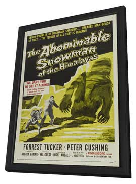 The Abominable Snowman - 11 x 17 Movie Poster - Style B - in Deluxe Wood Frame