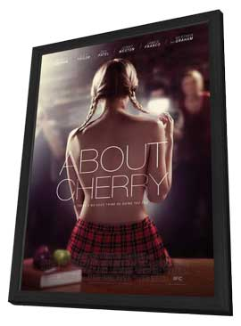 About Cherry - 11 x 17 Movie Poster - Style A - in Deluxe Wood Frame