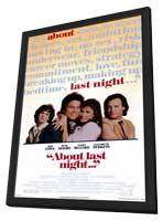 About Last Night. . . - 11 x 17 Movie Poster - Style A - in Deluxe Wood Frame