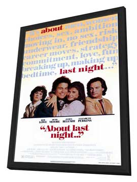 About Last Night. . . - 27 x 40 Movie Poster - Style A - in Deluxe Wood Frame