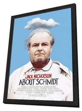 About Schmidt - 11 x 17 Movie Poster - Style B - in Deluxe Wood Frame