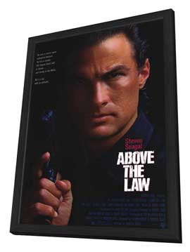 Above the Law - 11 x 17 Movie Poster - Style A - in Deluxe Wood Frame