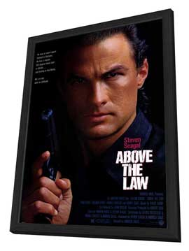 Above the Law - 27 x 40 Movie Poster - Style A - in Deluxe Wood Frame