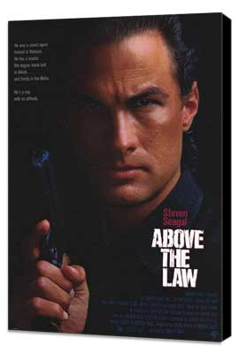 Above the Law - 11 x 17 Movie Poster - Style A - Museum Wrapped Canvas