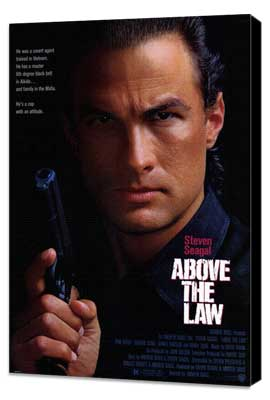 Above the Law - 27 x 40 Movie Poster - Style A - Museum Wrapped Canvas