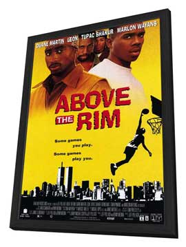 Above the Rim - 27 x 40 Movie Poster - Style B - in Deluxe Wood Frame