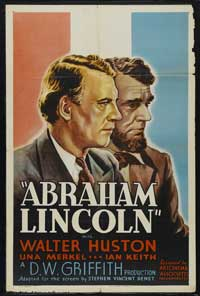 Abraham Lincoln - 27 x 40 Movie Poster - Style A