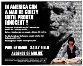 Absence of Malice - 11 x 14 Movie Poster - Style A
