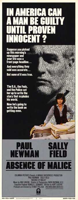 Absence of Malice - 14 x 36 Movie Poster - Insert Style A