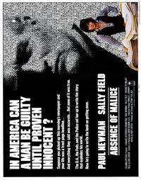 Absence of Malice - 22 x 28 Movie Poster - Half Sheet Style A