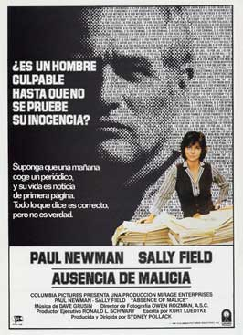 Absence of Malice - 11 x 17 Movie Poster - Spanish Style A