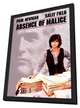 Absence of Malice - 11 x 17 Movie Poster - Style B - in Deluxe Wood Frame