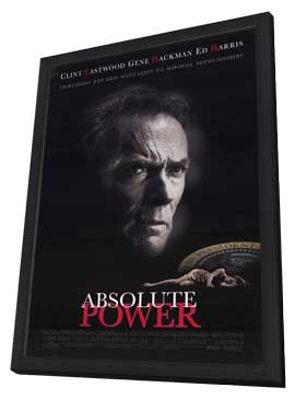 Absolute Power - 11 x 17 Movie Poster - Style A - in Deluxe Wood Frame