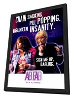 Absolutely Fabulous - 27 x 40 TV Poster - Style B - in Deluxe Wood Frame