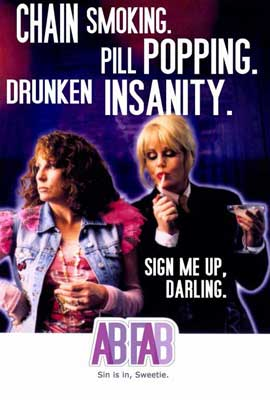 Absolutely Fabulous - 27 x 40 TV Poster - Style B