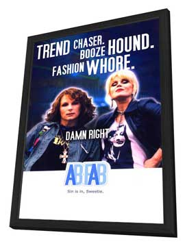 Absolutely Fabulous - 27 x 40 Movie Poster - Style C - in Deluxe Wood Frame