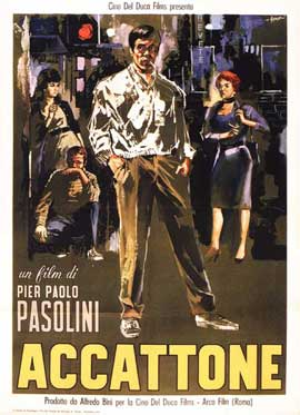 Accattone - 11 x 17 Movie Poster - Italian Style A