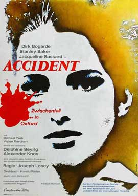 Accident - 27 x 40 Movie Poster - German Style A